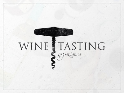 Wine Tasting Experience Logo - V1 dirt grunge bottle typography type mark identity icon branding logo wine