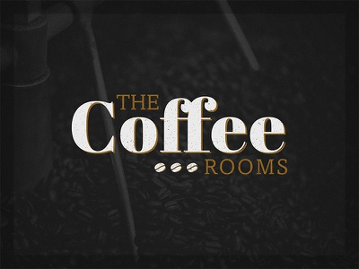The Coffee Rooms Logo typography type logo beans bean rooms coffee