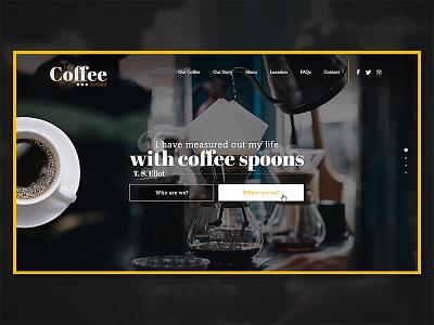 The Coffee Rooms Website landing vintage web typography type logo beans bean rooms coffee