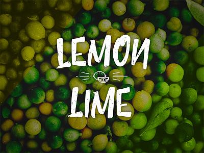 Lemon Lime branding logo font typography type yellow green lime lemon