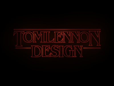 TLD Stranger Things Version netflix logo typography type things stranger