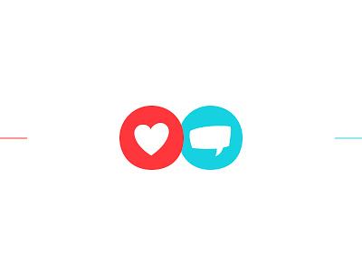 Love & Talk Icons minimal logo design icon talk love