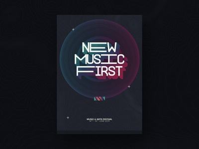 Music Festival '19 - Direction One geometric music festival ireland texture type poster design poster