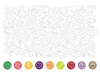 Food Pattern and Icons