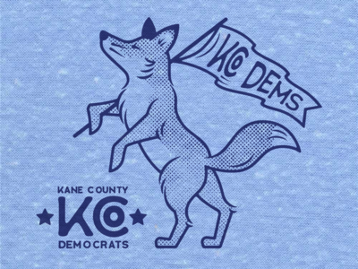 Kane County Democrats Shirt Design