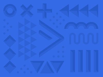 Beveled pattern exploration geometric brand branding monochromatic 3d extrude shapes retro minimal abstract dimensional beveled pattern