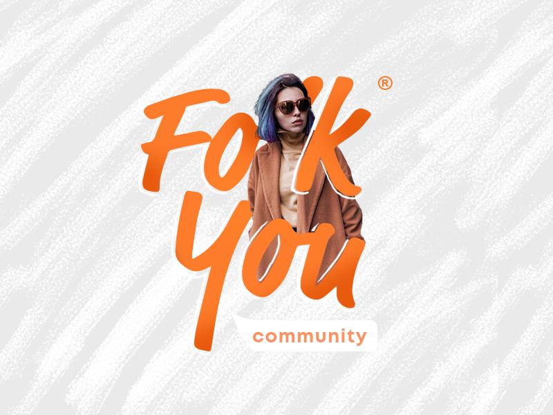 Folk You Community you folk brand application community design logo branding