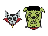 Howl-O-Ween Dog Stickers