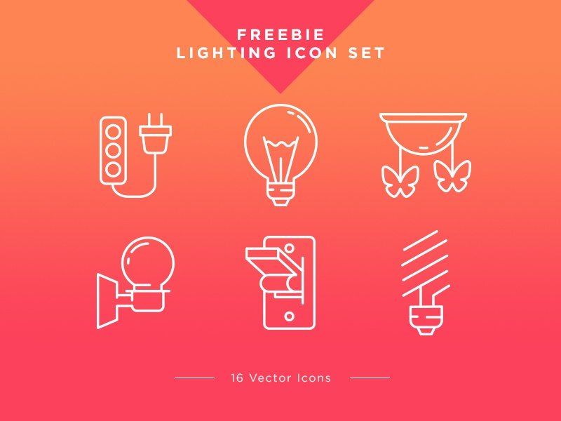 Free Icons Set – Lighting free icons set ux ui freebie bulb light set free icons