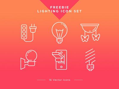 Free Icons Set – Lighting free icons set ux ui freebie bulb light set free icons