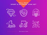 Sport & Extreme Icons Set
