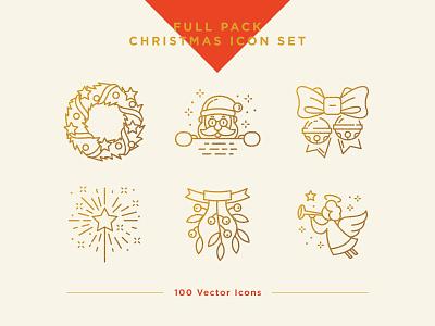 Christmas Icons Set christmas santa claus ux ui vector icon set santa icon christmas icon