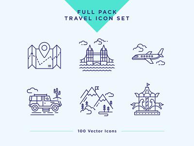 Travel & Landmarks Icons Set travel icon landmark icon icon set vector ui ux landmarks travel