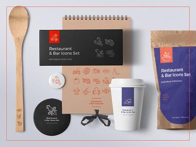 Food & Drinks  – 100 Line Icons vector ux ui restaurant icon set icons food icon drink icon