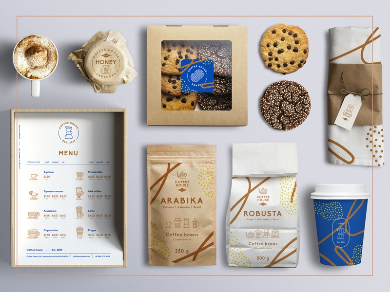 Coffee house – 130 Line Icons vector ux ui coffee cup menu stationery icon set branding logo coffee