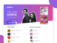BookMyShow Jukebox Landing Page