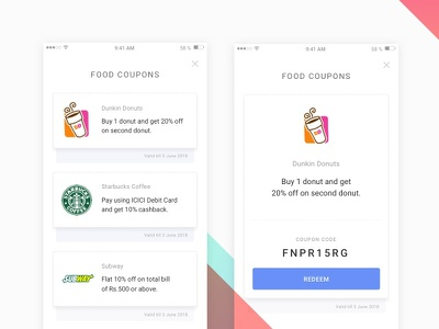 Another version for Coupon Redemption voucher ui redeem mobile gradients design coupons apply application app animation