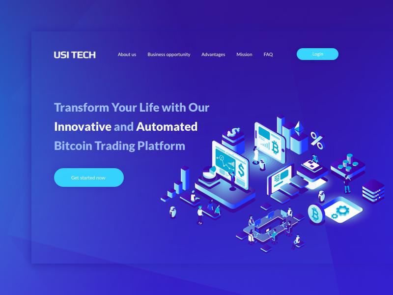 Bitcoin Trading Platform blue sydorov ux design flat web illustration bitcoin blockchain ui site
