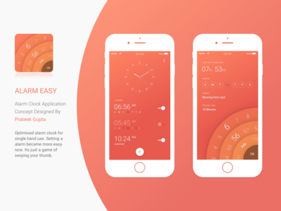 Alarm Eazy App Concept