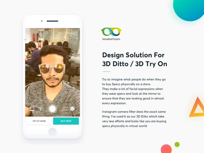 Design solution for Lenskarts' 3D Ditto