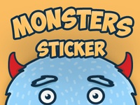 Monsters Sticker set