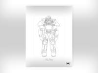 Poster - Power Armor Sketch WIP