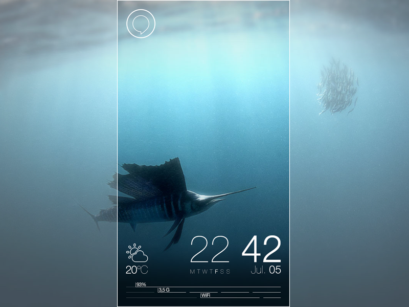Jolla : Sailfish OS - Redesign - Part 3 - Updated Lockscreen jolla sailfish os redesign ui ux erik westerdahl concept part 3 minimalistic outlined lock screen