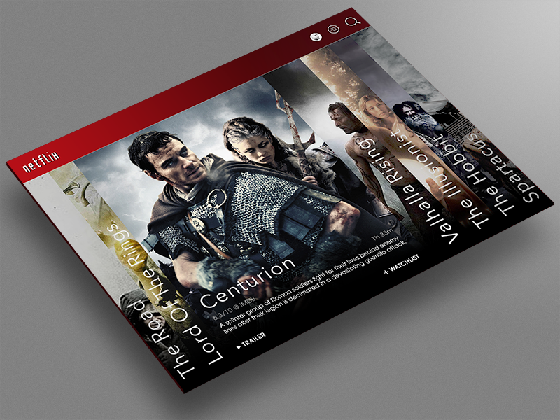 Netflix : Redesign Concept by Erik Westerdahl on Dribbble