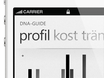 DNA-Guide dna guide ui ios wp7 windows phone 7 pivot lifestyle debut genetics app design button texture interaction design industrial design konstfack
