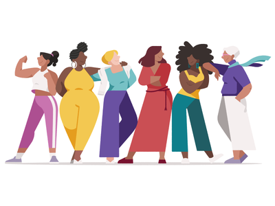 International Women's Day flat 2d illustration character international womens