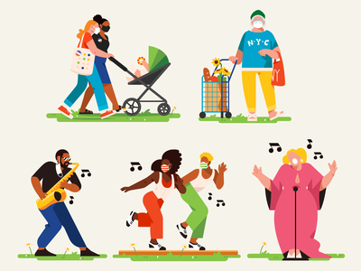 Restart Stages music performance concert color character illustration