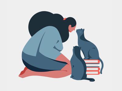 Pet serise2 girl cat mypet illust illustration pet