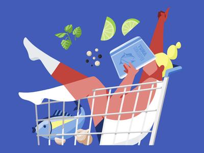 Tuna Recipe recipe color bule magazine cart tuna