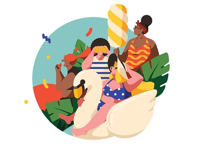 Summer holiday 1 magazine holiday summer color girl character illustration