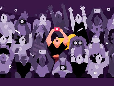 Concert concert branding vector people flat 2d color character illustration