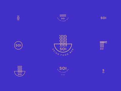 SOI #2 Logo and Sub Marks sub marks visual design logo marks graphic design design adobe illustrator noodles creative restaurant vector identity adobe brand logotype food asian logo design branding logos logo