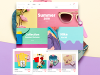 Colorful Store - Homepage for ecommerce