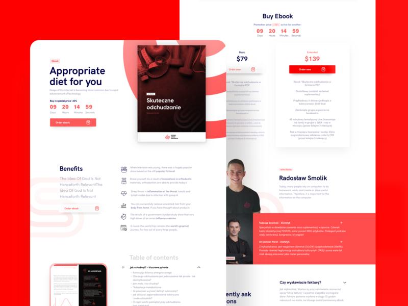 Ebook Landing Page - Centrum Szkoleń Sportowych ui ecommerce shop landing page ebook layout ebook