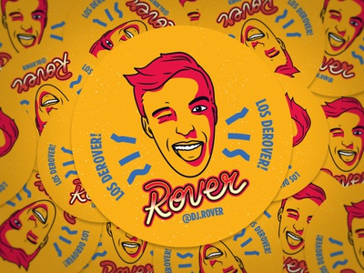Dj Rover - Sticker Design design sticker deejay rover