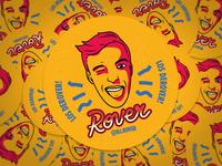 Dj Rover - Sticker Design