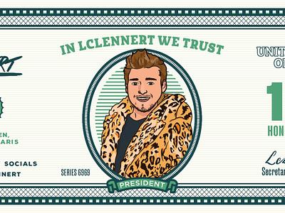 LC LENNERT pimp deejay biljet money dollar