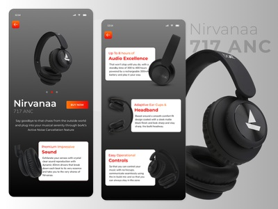 Headphone Details Page UI graphics design user experience experience ux design uidesign ux emotional design experiencedesign user interface ui