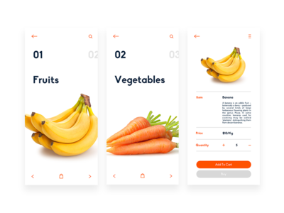 Gro & Cherry - Groceries App Design