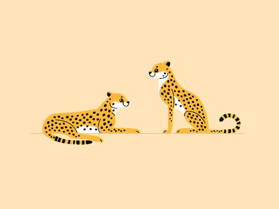 Cartoon Сheetah cartoon african animals safari wild cat cheetah cartoon animal character animal illustration vector flat  design animal character