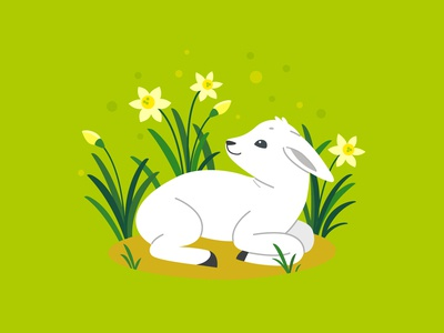 Little Lamb, vector illustration