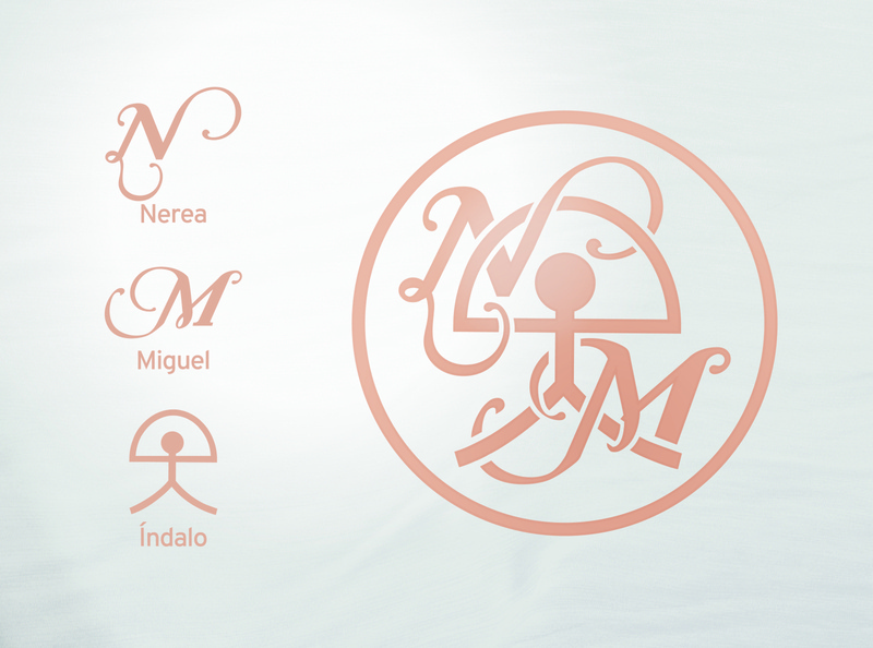 Monogram M&N vector wedding monogram logo monogram logo design illustration