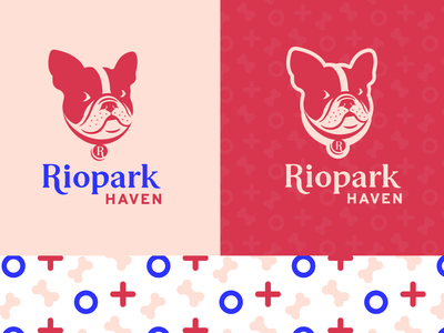 Riopark Haven icon animal vector brand identity logodesign logos logo design logotype dogs haven pets animals brand english bulldog bulldog logo haven