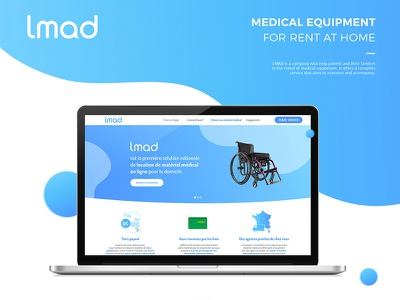 Lmad Website designer graphiste aurore vandenhende graphisme graphic design grandient flat website health equipment rent medial
