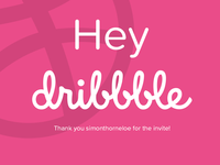 Hey Dribbble! Nice to be here