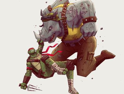Ralph vs Rocksteady -TMNT